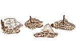 UGears Mechanical Models - Mechanical U-Fidget-Tribiks: Ships Set of 4
