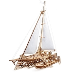 UGears Mechanical Models - Mechanical Trimaran Merihobus Sailboat