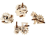 Original Set of 4 U-Fidget-Tribiks ~ UGears Mechanical Models