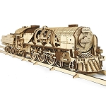 V-Express Steam Train with Tender ~ UGears Mechanical Models