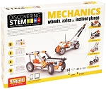 Engino Robotics STEM Mechanics: Wheels, Axles & Inclined Planes Set