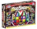 Popular Playthings Magnetic Building Tiles MagSnaps - 48 pcs