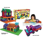 Popular Playthings Interlocking Building BlocksPlaystix Deluxe Set - 211 pcs