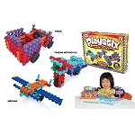 Popular Playthings Interlocking Building Blocks Playstix Vehicles Set - 130 pcs