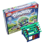 Popular Playthings Interlocking Building Blocks Playstix Translucent Set - 105 pcs