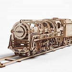UGears Mechanical Models - Mechanical Steam Locomotive Train Engine