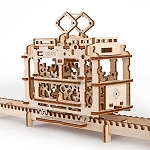 UGears Mechanical Models - Mechanical Tram On Rails