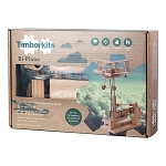 Timberkits Bi-Plane Mechanical Wooden Model Kit