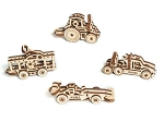 UGears Mechanical Models - Mechanical U-Fidget-Tribiks: Vehicles Set of 4