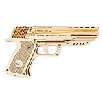 UGears Mechanical Models - Wolf-01 Rubber Band Handgun