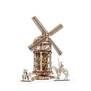 UGears Mechanical Models - Mechanical Tower Windmill Don Quixote