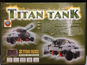 Titan Dueling Tanks Robot Remote Control Kit (twin pack)