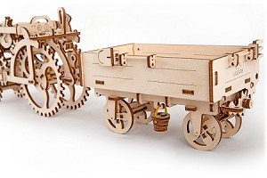 UGears Mechanical Models - Mechanical Tractor`s Trailer