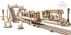 UGears Mechanical Models - Mechanical Tram Line Model